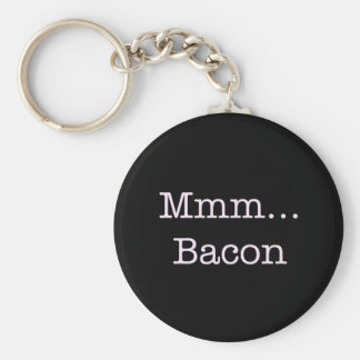 Bacon Mmm Basic Round Button Key Ring