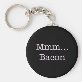 Bacon Mmm Basic Round Button Key Ring