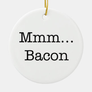 Bacon Mmm Double-Sided Ceramic Round Christmas Ornament