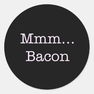 Bacon Mmm Round Sticker
