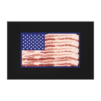 Bacon nation canvas print