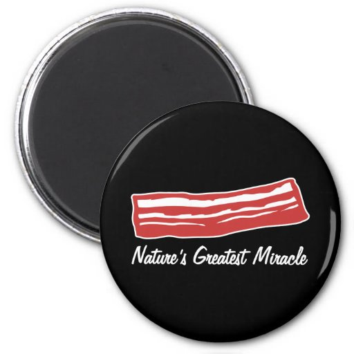 bacon nature's greatest miracle fridge magnets