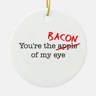 Bacon of My Eye Christmas Tree Ornaments