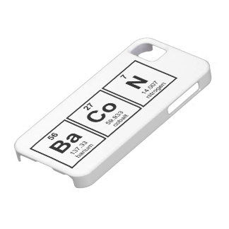 Bacon Periodic Table Element Symbols iPhone 5 Covers