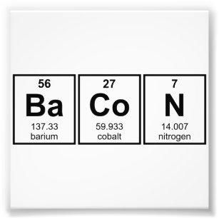 Chemistry jokes posters prints zazzle uk bacon periodic table element symbols photo print urtaz Images