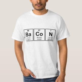 Bacon Periodic Table Element Symbols Shirt