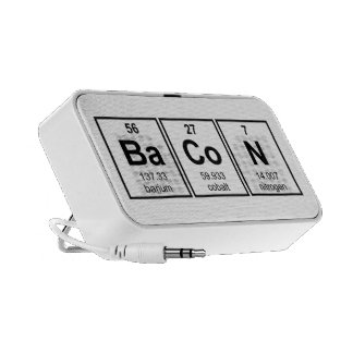 Bacon Periodic Table Element Symbols Travelling Speakers