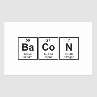 Bacon Periodic Table Element Symbols Stickers