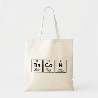 Bacon Periodic Table Element Symbols Tote Bag