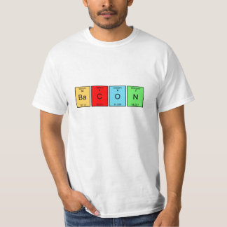Bacon Periodic Table Elements T-shirt