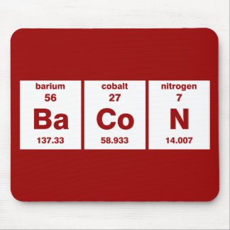 Bacon - periodic table of the elements mouse mat