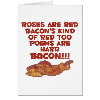 Bacon Poem Card