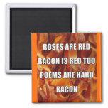 Bacon Poem Funny Fridge Magnet