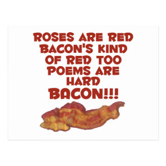 Bacon Poem Postcard