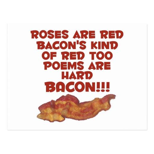 Bacon Poem Postcards
