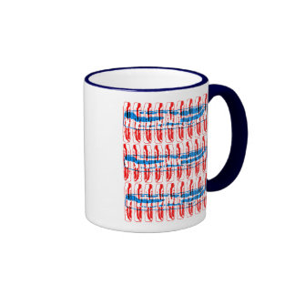 Bacon Pop Art, Red and Blue Coffee Mugs