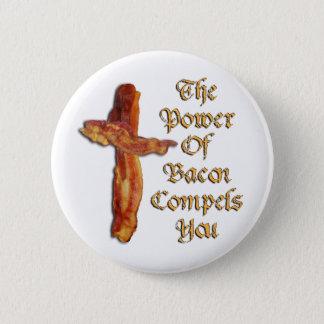 Bacon Power 6 Cm Round Badge