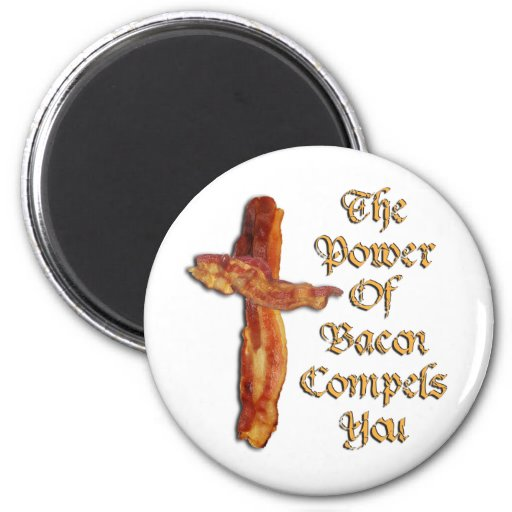 Bacon Power Refrigerator Magnets
