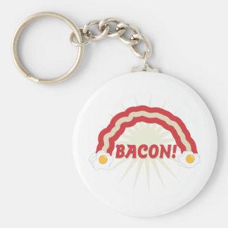 Bacon rainbow key ring
