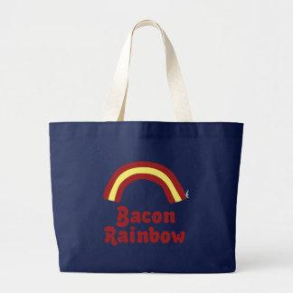 Bacon Rainbow Large Tote Bag