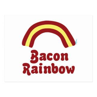 Bacon Rainbow Postcard