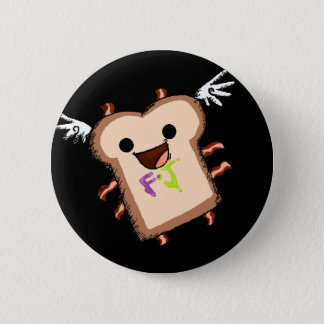 bacon sammich 6 cm round badge