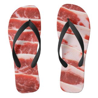 bacon shoes flip flops