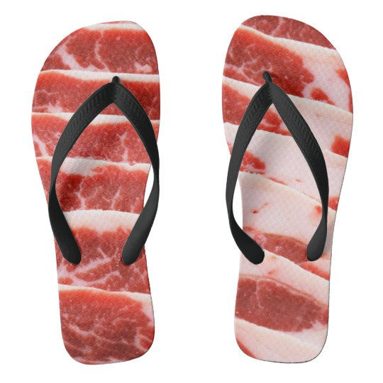 bacon shoes flip flops
