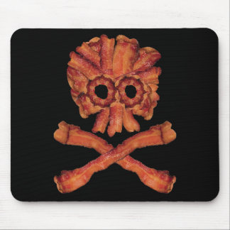 Bacon Skull and Crossbones Mouse Mat