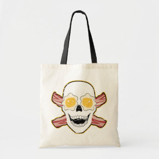 Bacon Skull Tote Bag