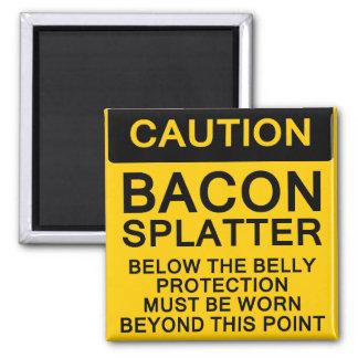 Bacon Splatter Caution Refrigerator Magnet