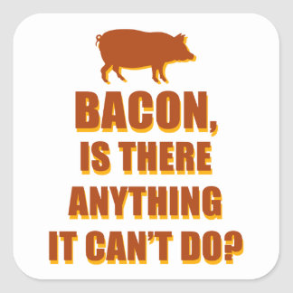 Bacon Square Sticker