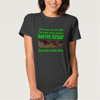 Bacon strip tee shirt