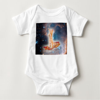 Bacon Surfing Cat in the Universe Baby Bodysuit