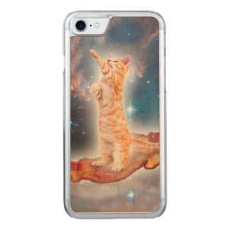 Bacon Surfing Cat in the Universe Carved iPhone 8/7 Case