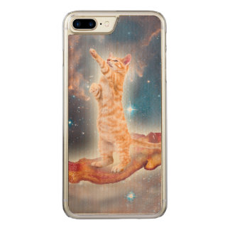 Bacon Surfing Cat in the Universe Carved iPhone 8 Plus/7 Plus Case