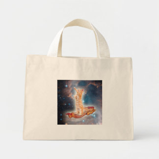 Bacon Surfing Cat in the Universe Mini Tote Bag