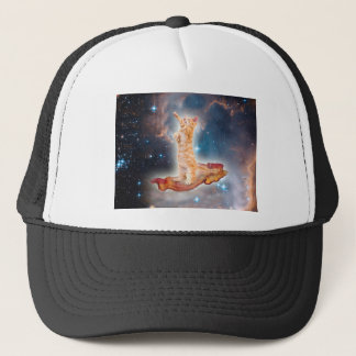 Bacon Surfing Cat in the Universe Trucker Hat