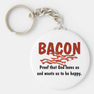 Bacon T-shirts and Gifts. Key Ring