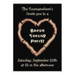 Bacon tasting party 13 cm x 18 cm invitation card