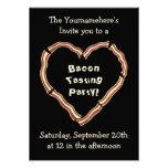 Bacon tasting party custom announcements