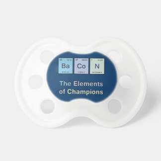 Bacon, The Elements of Champions Baby Pacifier