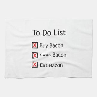 Bacon To Do List Tea Towel