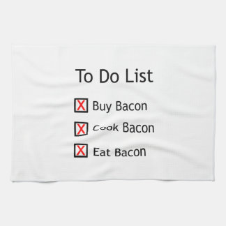 Bacon To Do List Towels