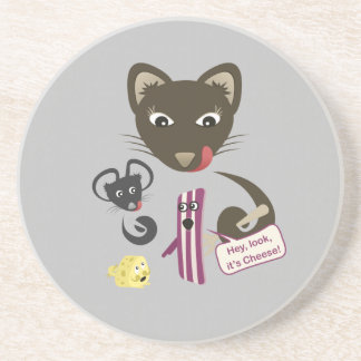 Bacon Unites Friends and Foes Beverage Coaster