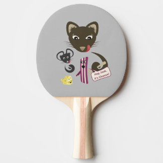 Bacon Unites Friends and Foes Ping-Pong Paddle