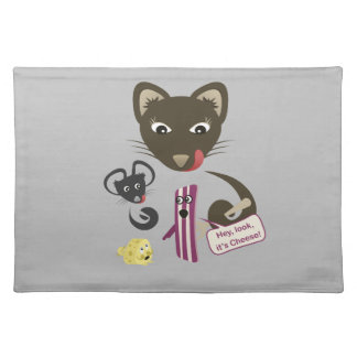 Bacon Unites Friends and Foes Cloth Placemat