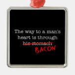 Bacon Way to a Man's Heart Christmas Tree Ornaments