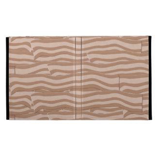 Bacon Weave Pattern iPad Folio Cover