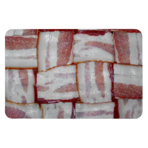 Bacon Weave Rectangle Magnets